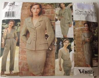 Vogue American Designer sewing pattern 1721 - Oscar de la Renta Misses' jacket, dress, top, skirt and pants -size 6-8-10