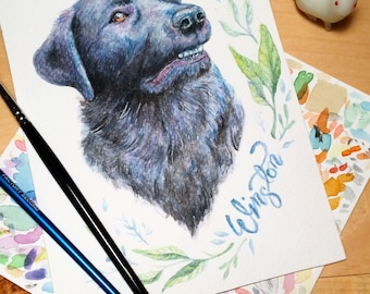 Custom Pet Portrait | Original Watercolour