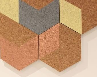 Copper Hexagon pinboard