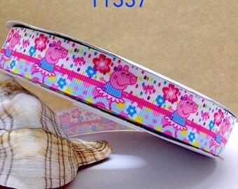 Peppa Pig Ribbon-Pink Peppa Ribbon-Peppa Pig-7/8 Character Ribbon