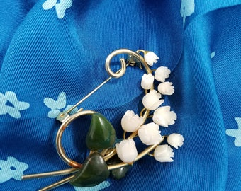 Beautiful Lily of the Valley Flower Brooch