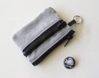 Slim wallet in grey jeans/grey jeans wallet