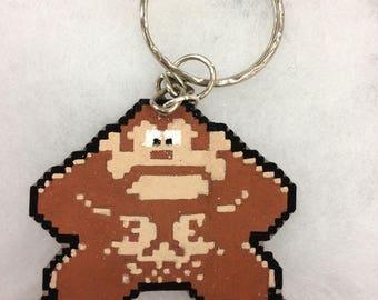Donkey Kong pixel keychain