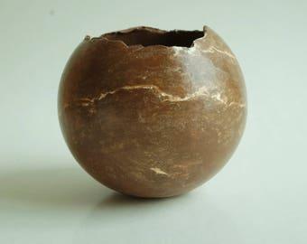Vase, handmade marbled ceramics