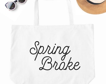 Canvas Beach Bag, Beach Bag, Beach Tote, Spring Break, Spring Break Bag, Spring Break 2018, Vacation Bag, Vacation Tote Bag, Big Canvas Bag