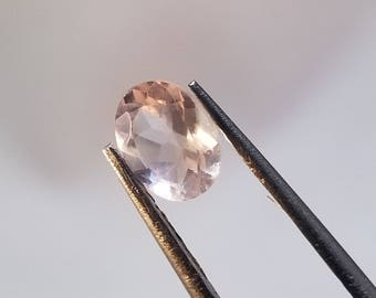 5mm x 7mm Oval Faceted Rose Quartz Cabochon, Faceted Rose Quartz, Faceted Gems, Rose Quartz
