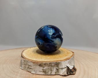 Glass Planet Marble, Boro Marble, Glass Orb, Art Marble, Fumed Marble, Collectible Marble, Handmade Glass Space Ocean, Vortex Marble,