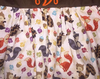 Woodlands baby animals dress with matching pants!  Perfect for the fall and thanksgiving celebrations!
