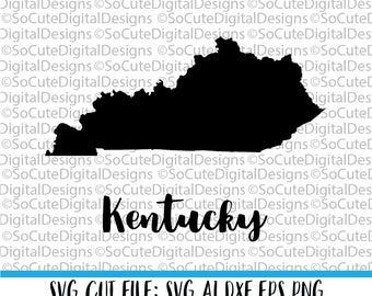 Kentucky SVG File, state svg, travel svg, vacation svg,  inspirational svg, svg sayings,  Cricut, Silhouette Cut File, DXF, clip art