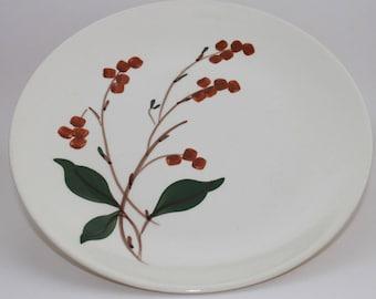"""Blue Ridge Pottery 9 1/2"""" Dinner Plate Bittersweet Pattern"""