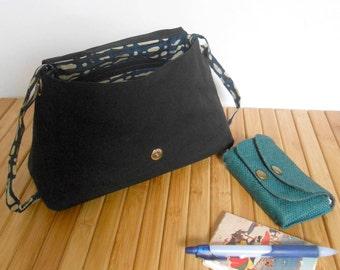 Handbag - adjustable strap - OOAK