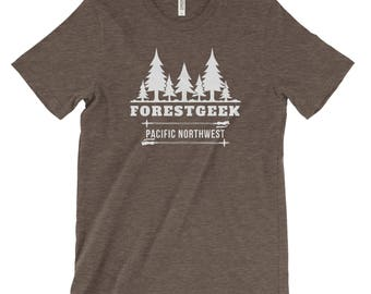 Forest Geek Adventure Unisex Bella Canvas Tee