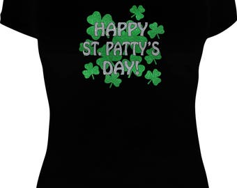 Happy St Patty's Day Ladies T-Shirt