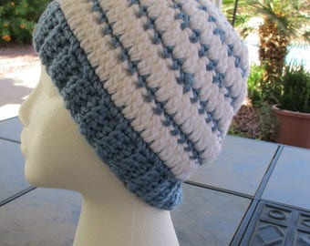Snowflake Blue and White hat