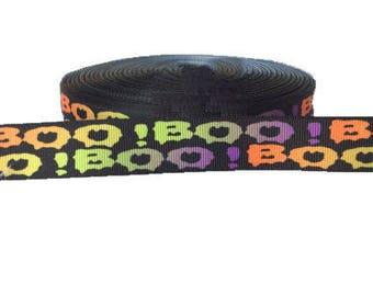 "BOO ~ Ghost ~ Grosgrain Ribbon ~ Halloween Ribbon ~ 7/8 inch ~ 7/8"" ~ Scrabooking"