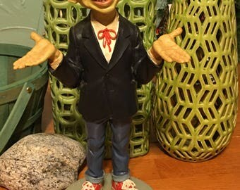"ALFRED E NEUMAN 14"" TALL Resin Figurine: 1993 Statue of Mad Magazine Mascot"