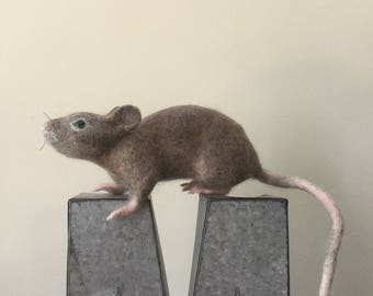 Needle Felted Mouse,Felted Animal,Handmade