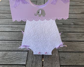 Nice Purple Elephant Baby Shower Decorations, Lavender Baby Shower Centerpiece,  Baby Girl Table Decor,