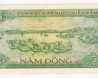 5 Dongs banknote Vietman 1985