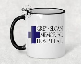 grey sloan memorial hospital mug,greys anatomy mug,greys anatomy gift,greys anatomy lover,tv show mug,fun tv show mug