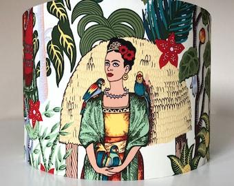 Frida Kahlo lampshade Light shade Unique Retro Lampshade Feminism Surrealism Feminist Frida Kahlo Gift for Artist Present Drum Lampshade