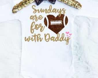 Football Onesie - Sundays Are For Football Shirt - Baby Girl football outfit  - Sundays Are For Football Onesie - Fall Is For Football Shirt