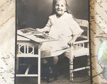 CdV Antique Cabinet Card Photo Vintage Photograph Paper Ephemera Collectible Photo Card Card de Visite