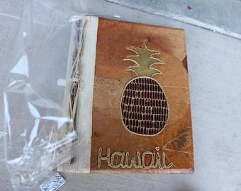 Hawaii 1990s Photo Album handmade with bamboo, pandan coconuts, cinnamon sticks, banana leaves Hawaiian Souvenir