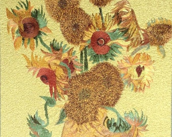 Chinese Embroidery Art Reproduction--Vincent Van Gogh Sunflowers