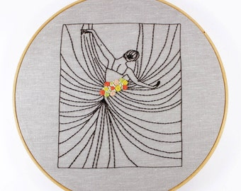 Contemporary Hand Embroidery *The Dancer* Pattern Digital Download