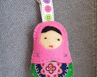 Felt Matryoshka Doll Keychain