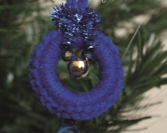 Blue Christmas Tree Decoration Small