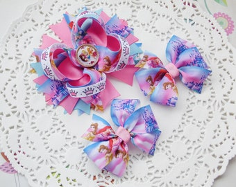 Clothing Gift Princess Bow Princess Baby Shower Disney Princess Bow Princess Hair Bow Hair Bows Princess Party Bow Birthday Bow Kids