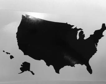 United States of America Map - Vinyl Decal