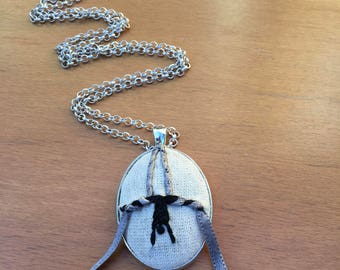 Embroidered Aerial Silks Necklace