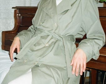 Vintage Army Green London Fog Trench Coat