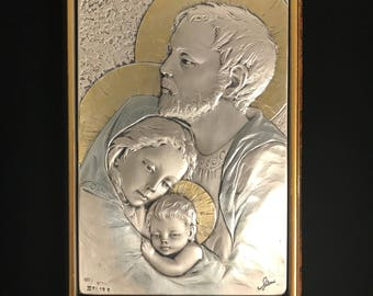 Religious Sterling Silver Stamped Plaque