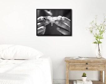 Modern Coastal Poster, Modern Black And White Photo, Large Modern Poster, Modern Portrait Art Print, Black And White Portrait Poster