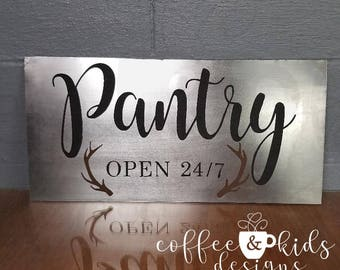 Metal home decor sign