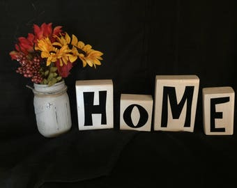 HOME wooden blocks