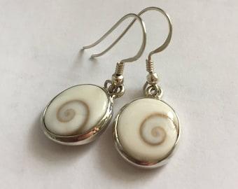 Eye of Shiva (nautilus) earrings