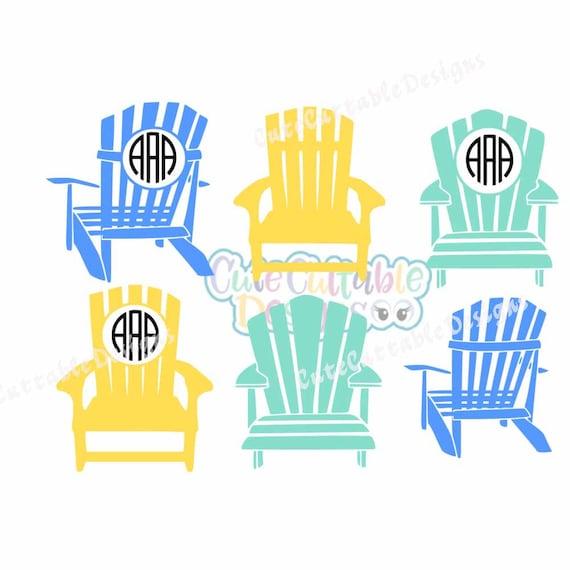 Adirondack Beach Chair Svg Summer Svg Monogram Frame Ocean