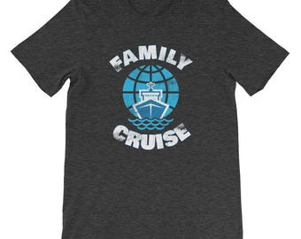 Family Cruise Vacation Beach Couples Matching Coordinating Summer Spring Winter Fall Carnival Royal Caribbean Short-Sleeve Unisex T-Shirt
