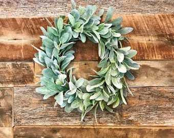 Lamb's Ear Farmhouse Wreath