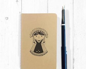 María - Illustrated Moleskine cashier notebook