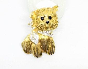 Vintage brooch dog terrier Carven of Paris