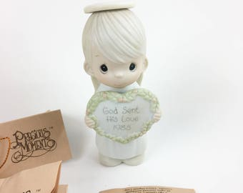 Vintage Precious Moments May God Sent His Love Special 1985 Issue Miniature Ornament Figurine 15768