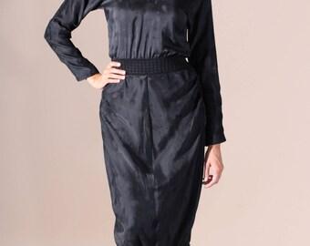 ON SALE SIlk dress, summer dress, mini dress, black dress, night dress, elegant dress, stylish dress. Sizes 36 to 44 or Made to measure !