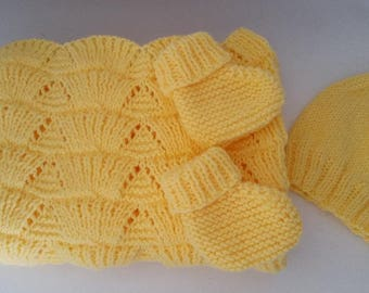 Baby Layette Set in Yellow