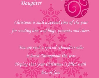 Daughter Christmas Card 3